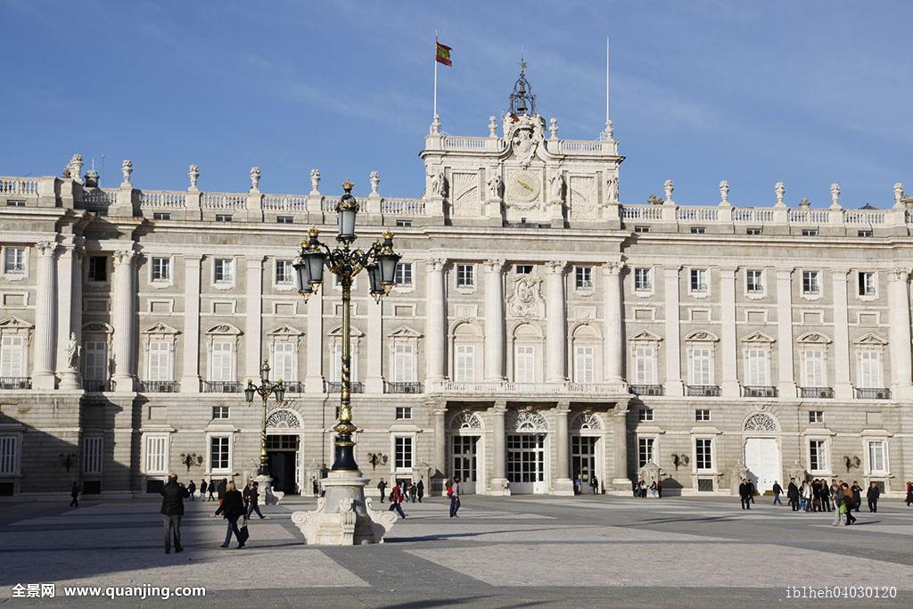 城堡,白天,西班牙,人,马德里,室外,户外,马德里皇宫,皇宫,皇家,宫殿图片