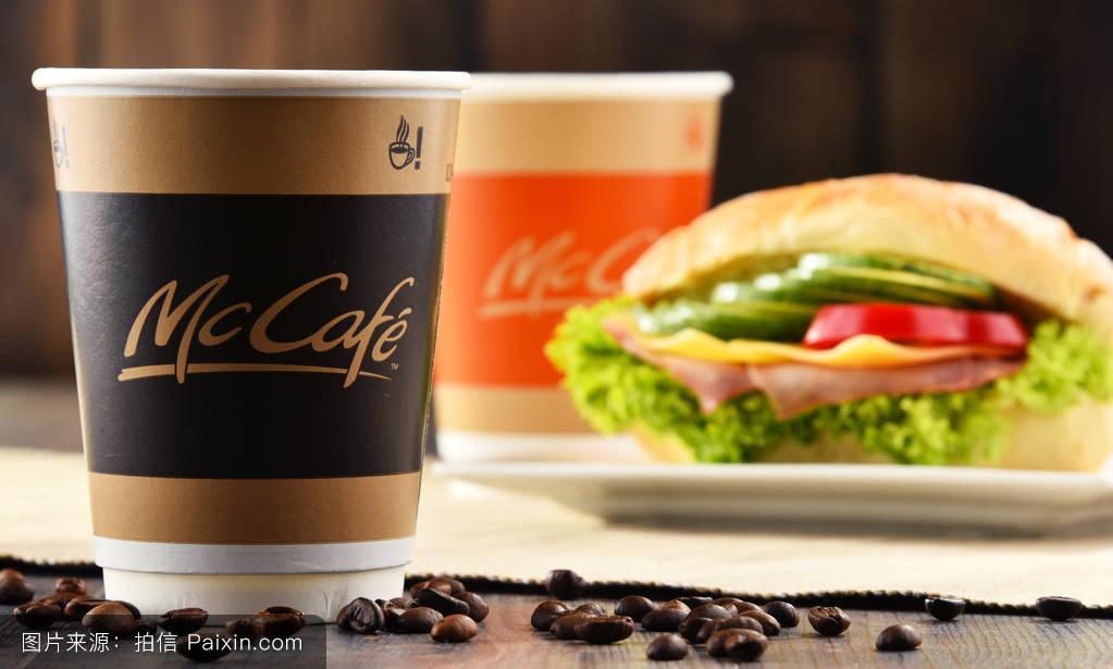 麦当劳咖啡杯子_链,标志,说明编辑,纸,公司,财产,咖啡,快餐,喝,麦当劳,糖,饮料,麦