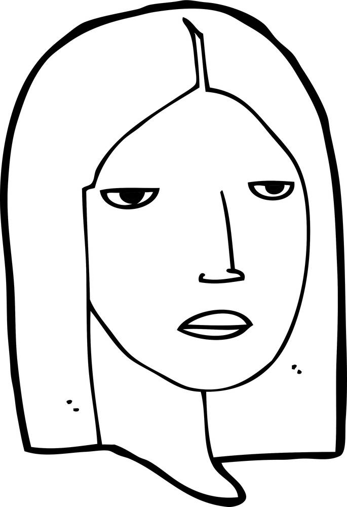 严肃的表情简笔画分享展示图片