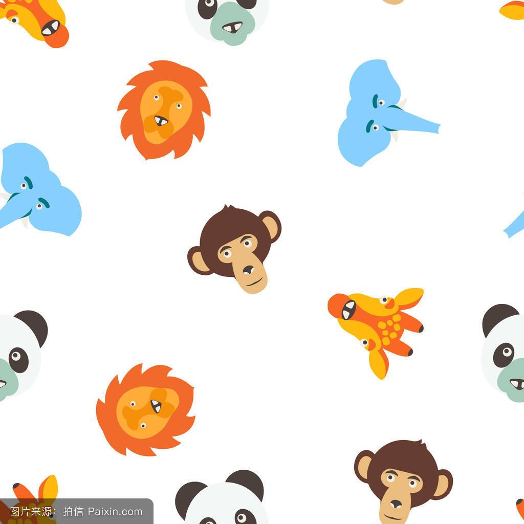 画猴子用什么颜色_卡通,丰富多彩的,非洲,爱,性格,长颈鹿,背景,玩具,熊,猴子,插画,收集