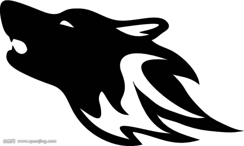 狼,狗,纹身,动物,黑色,部族,犬属,俘获,食肉动物,设计,眼睛,插画图片