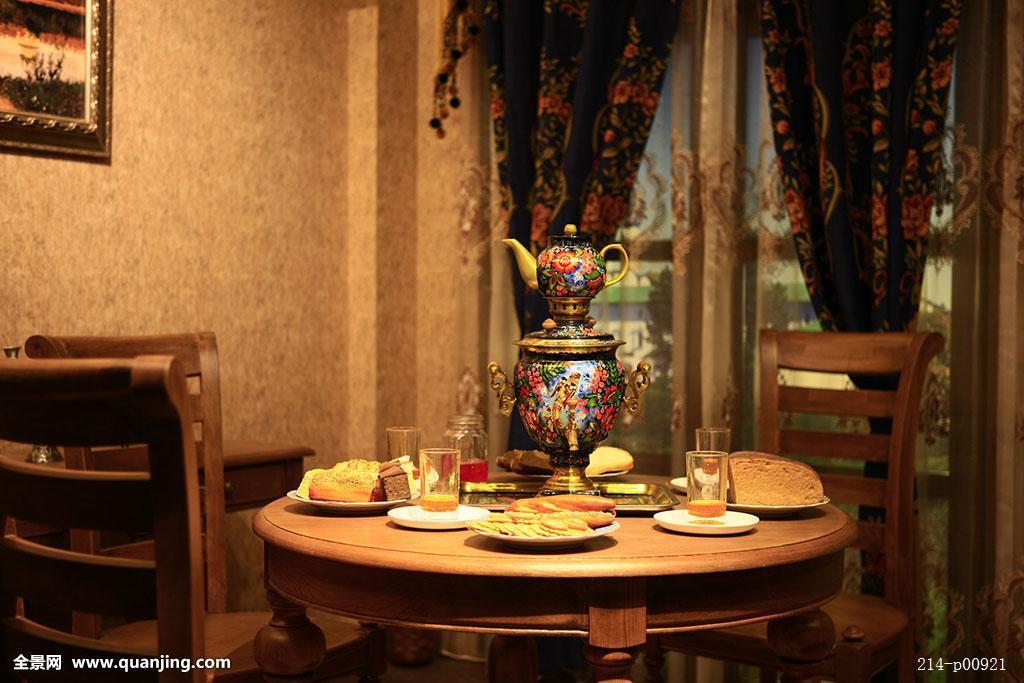 法国喝茶场景图片