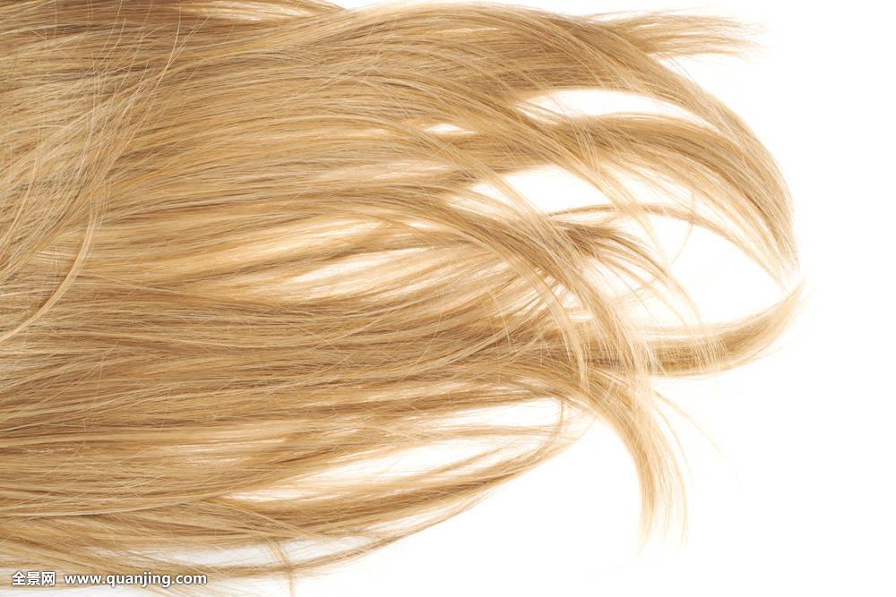 头发,碎片,上方,白色图片