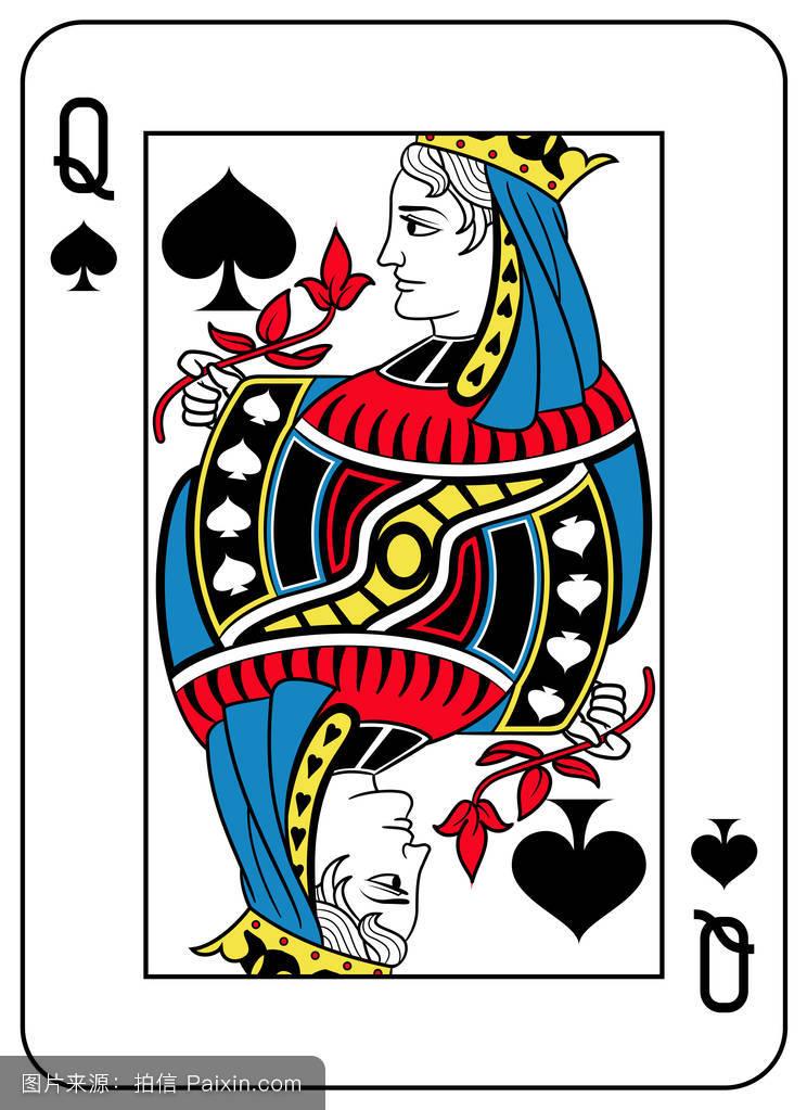 蓝色,扑克牌,女王,符号,扑克,游戏,暴发户,玩,卡片,框架,形状,赌徒