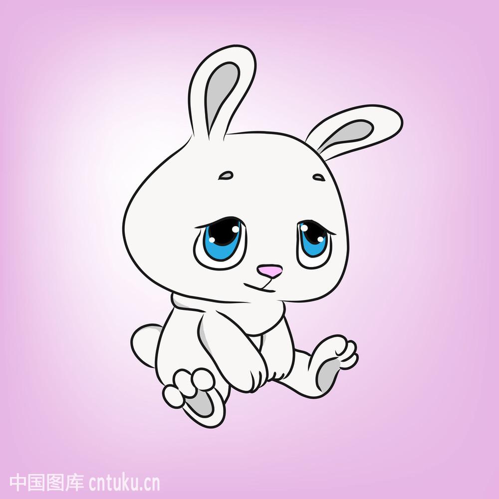 表情图示,宠物,绘画插图,绝望,卡通,矢量图,野兔,婴儿,哭,性格,兔子图片