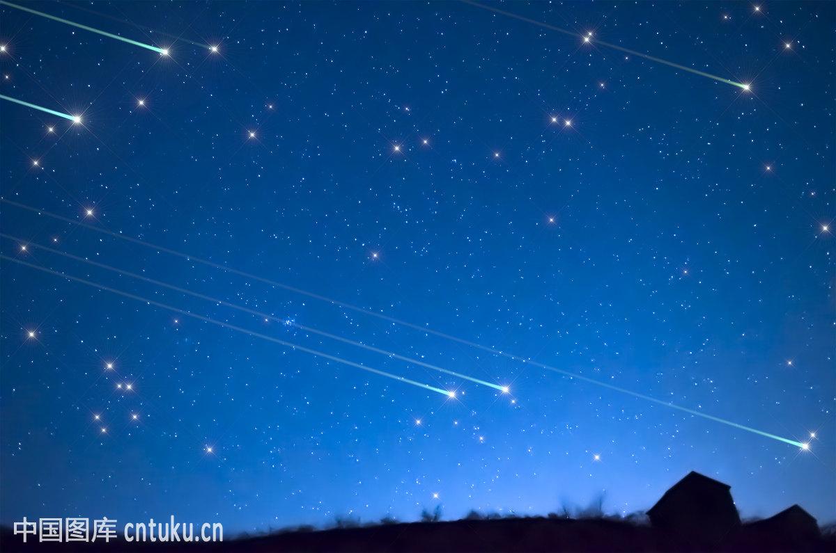 星空和流星图片