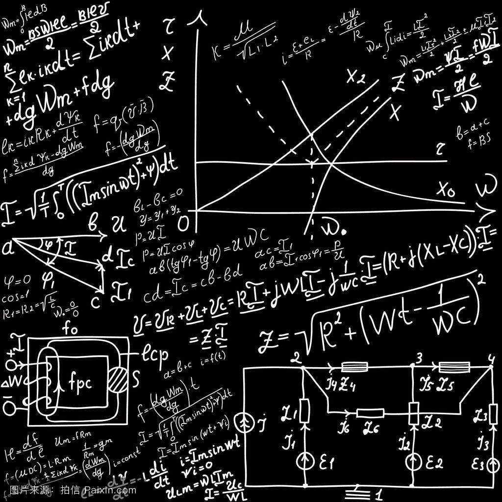 标量技术的减方程式物理学图形学习黑色墙摘要添加公式图片