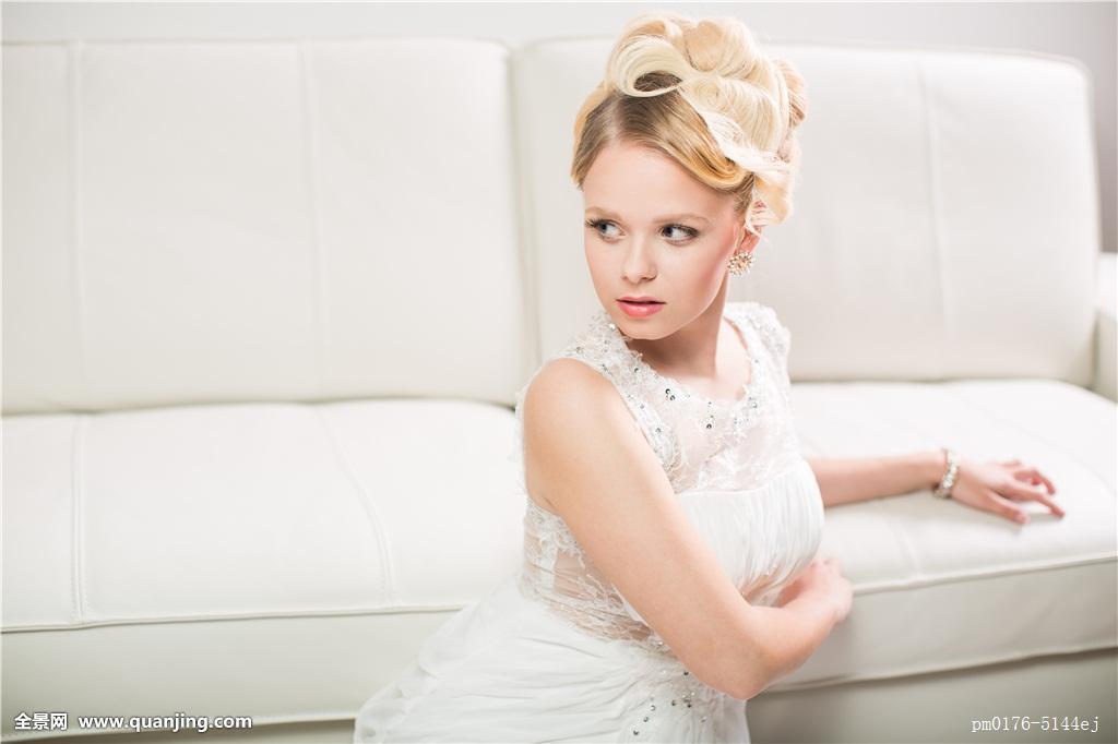 美女,新娘,结婚日,彩色,暗色图象,浅图片