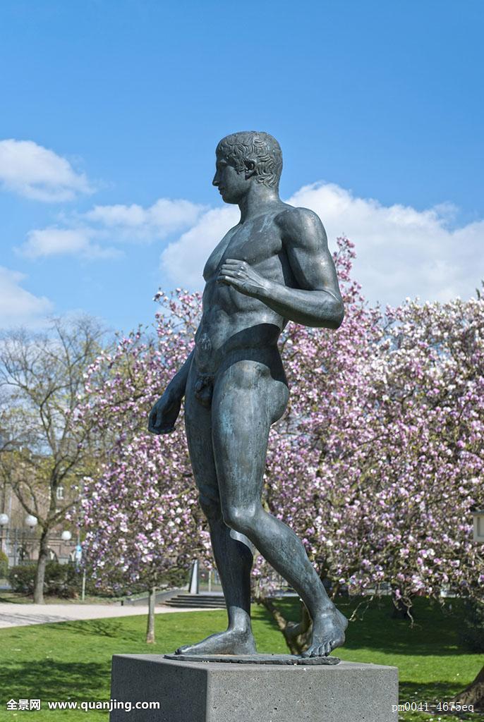 雕塑,靠近,学习,美术馆图片