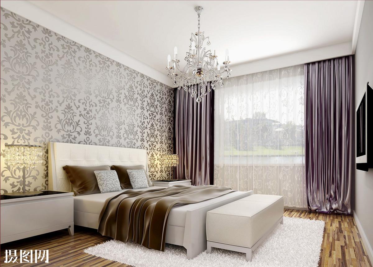 欧式卧室,欧式效果图,效果图,床品效果图,主卧室效果图,卧室效果图图片