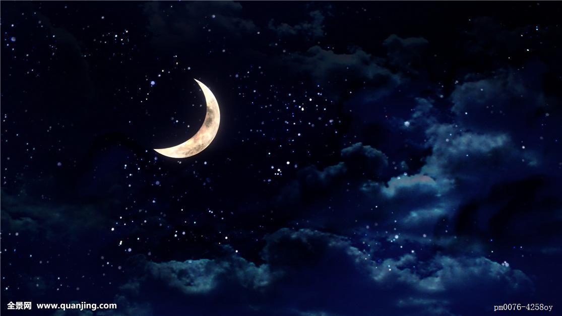 漂亮,天空,夜晚,云,月亮,晚间,多云,月光,气氛,景象,风景,远眺,远景图片