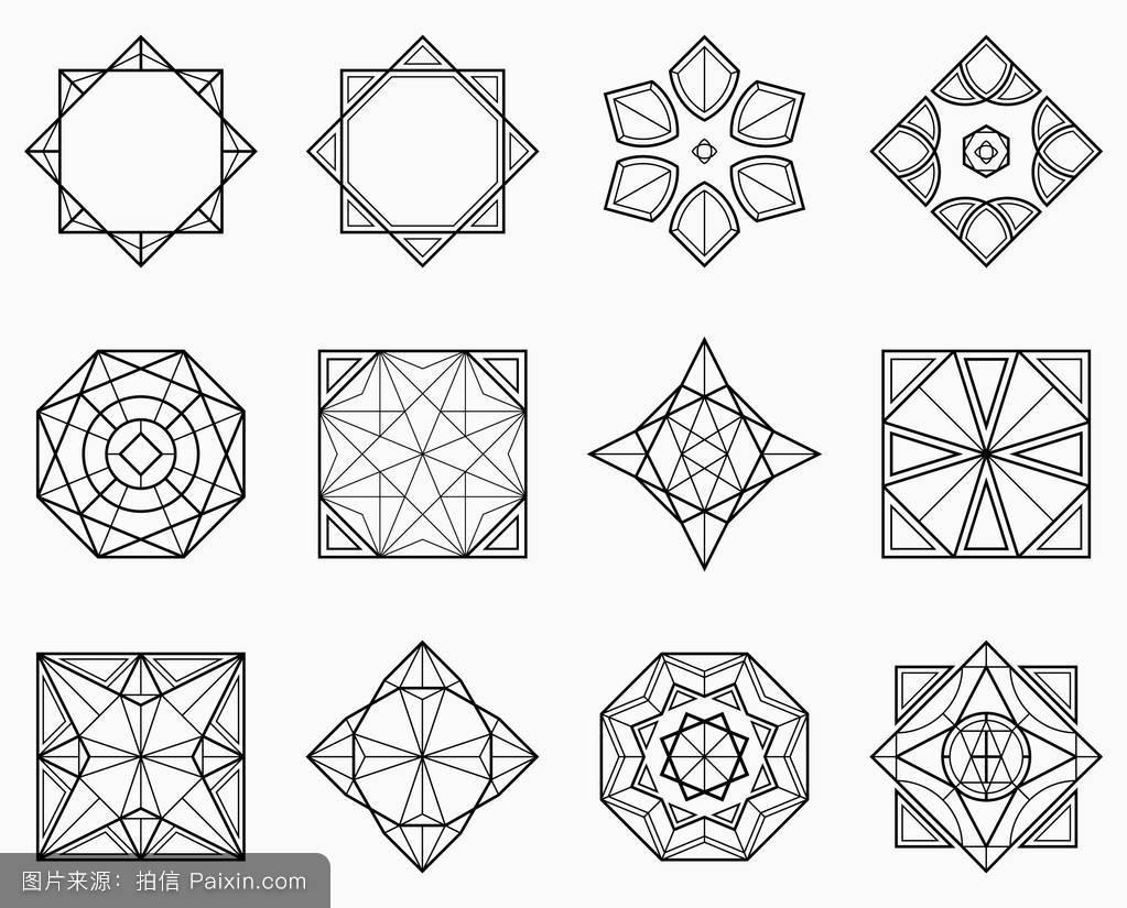 对称几何图形集图片