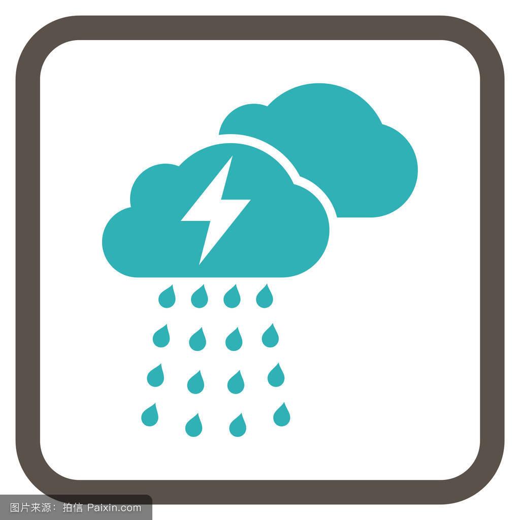 暴风雨,预测,矩形,天气,雕文,电压,闪电,矢量图标,广场,天气预报,气图片