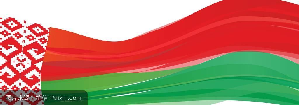 红绿相间的装饰,白俄罗斯共和国的国旗图片