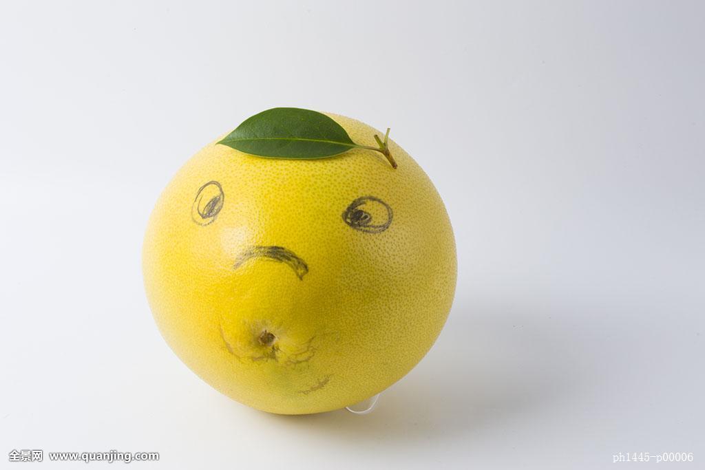 优雅,午茶,情调,白色,暖色,橙色,黄色,绿色,柚子,笑脸,人物,拟人,创意图片