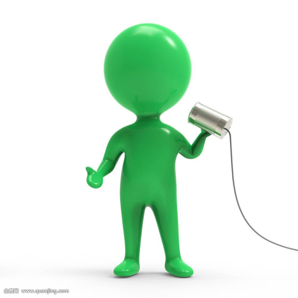 小��(���^kN�_男人,锡,罐,人,交谈,电话,卡通,沟通,灰色,简单,小,可爱,插画,概念