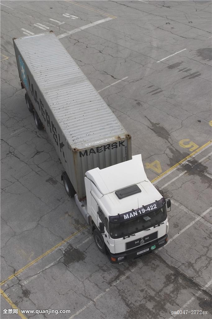 产业,交通,运输,港口,交通工具,金属,装载,拖车,存储,货物,铰链式卡车图片