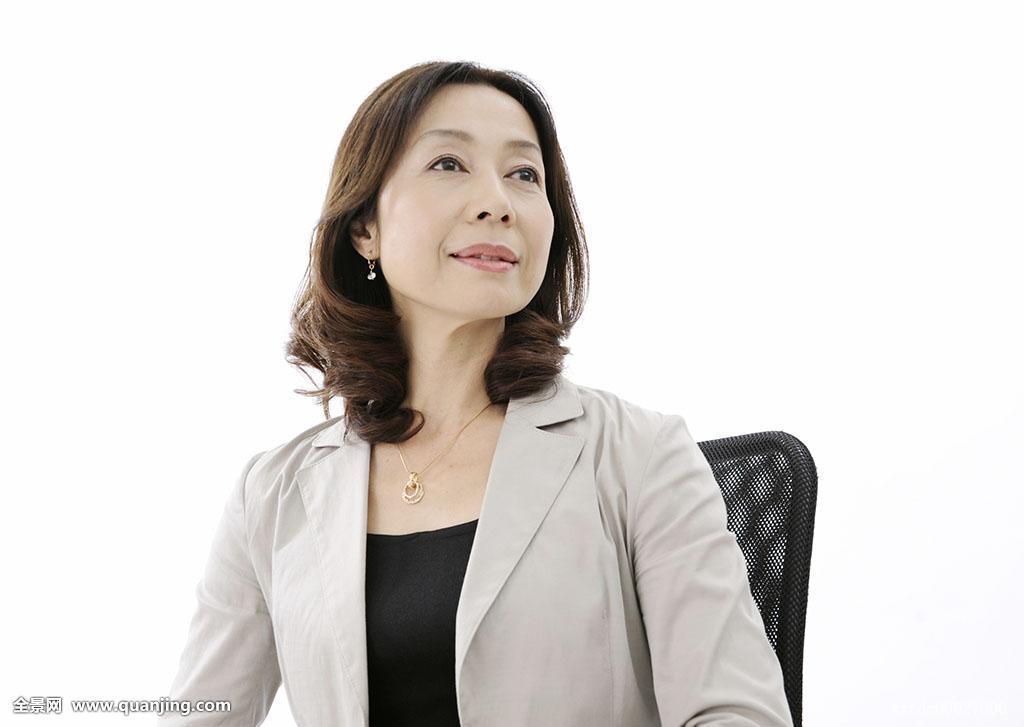 成年,老人,工作,顾问,商务人士,职业女性,职员,亚洲人,日本人,中长发图片