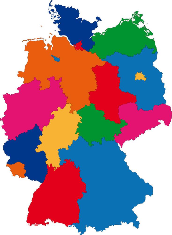 德国,地点,地区类型,地图,方向,绘画插图,绘图法,陆地,轮廓,欧洲,切断图片
