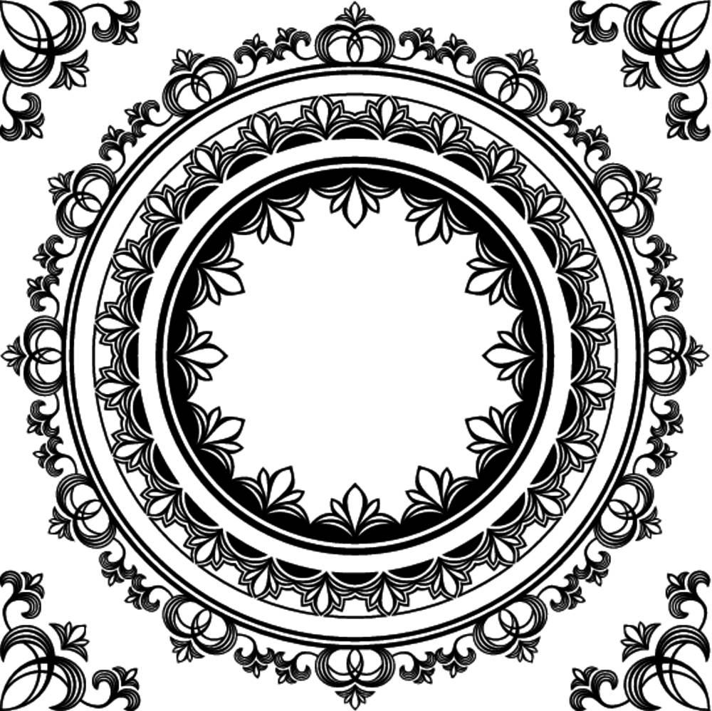 抽象,艺术,黑色,边界,圆,角,装潢,装饰,设计,特写,花,插画,图案,螺旋图片