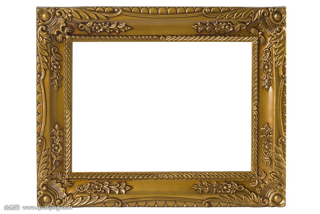 隔绝,木头,展示,博物馆,装饰,画框,老式,雕刻,室内装饰,相框,空,金色图片