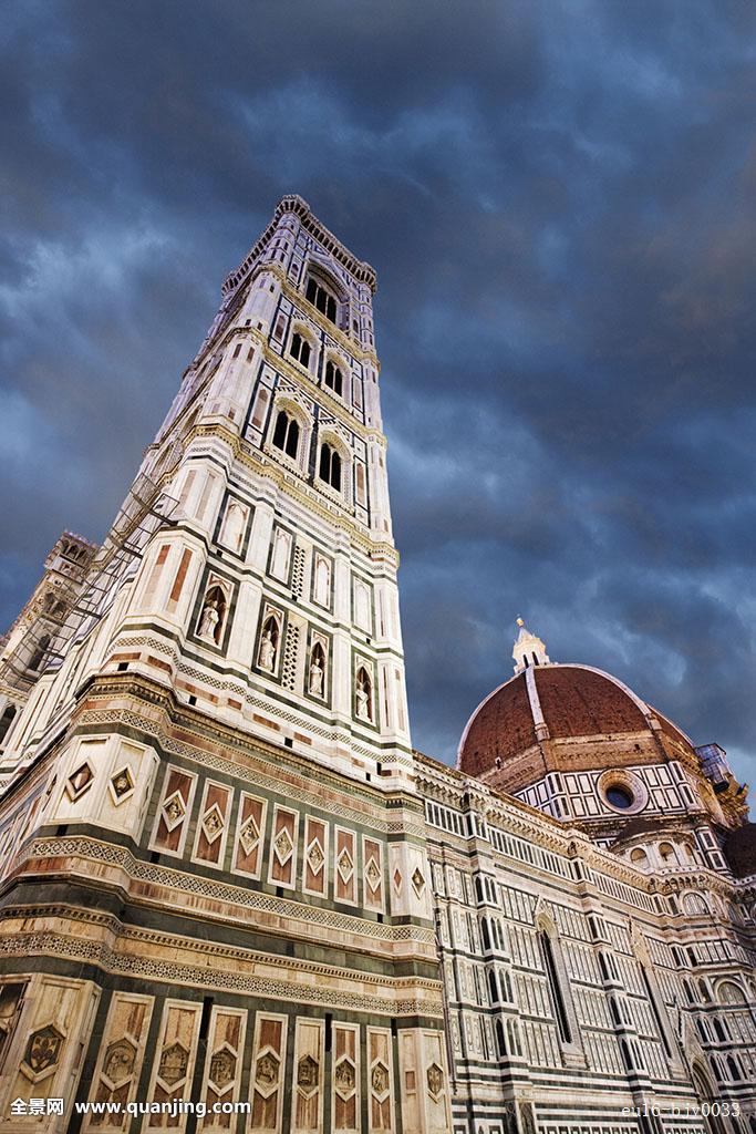 建筑,钟楼,大教堂,教堂,圆顶,欧洲,佛罗伦萨,哥特式,意大利,中世纪图片
