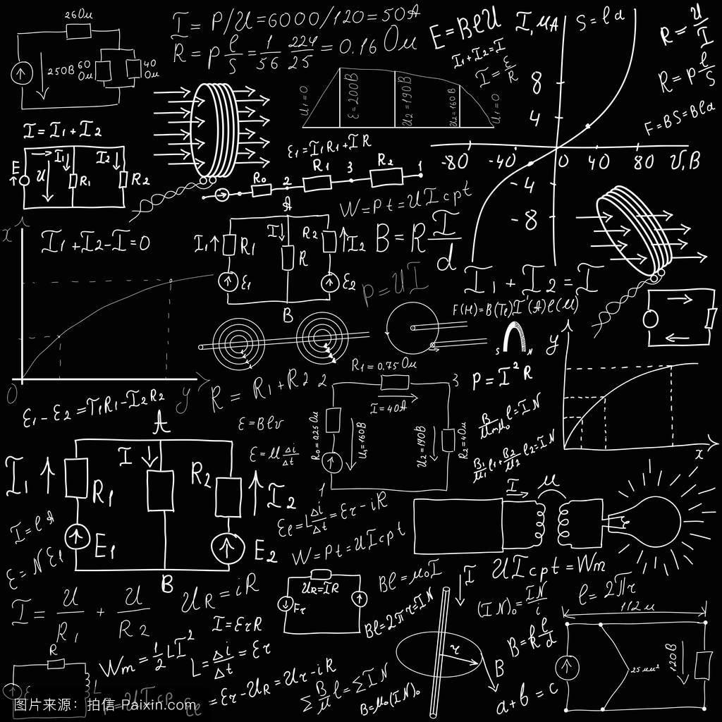 标量,技术的,减,方程式,物理学,图形,学习,黑色,墙,摘要,添加,公式图片