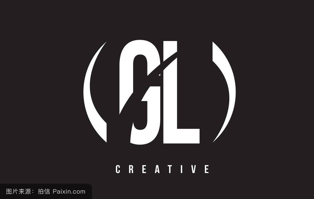 _gl g l的白色字母标�%