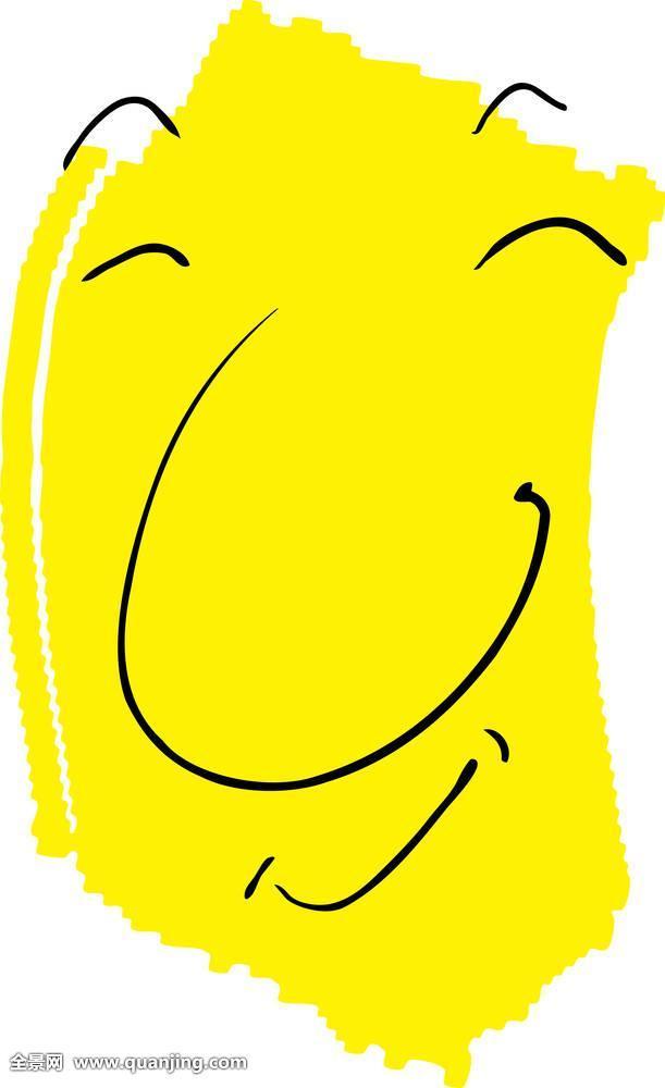 抽象,满意,涂写,绘画,情感,表情,脸,高兴,心情,微笑,手,人,插画,喜悦
