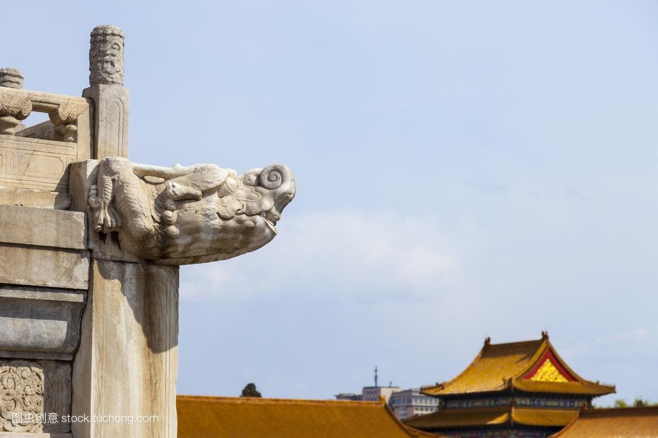 传统文化,白天,风光旅游,亚洲,无人,首都,皇宫,标志建筑,屋檐,屋顶图片