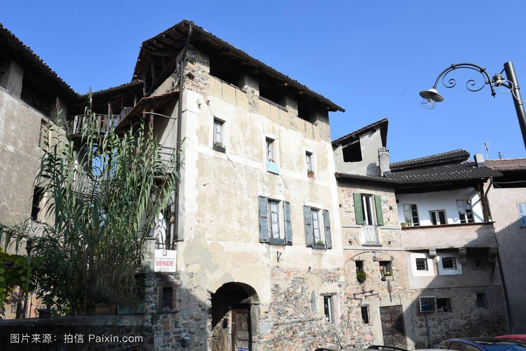 部分,村庄,乡村的,历史,窗户,古董,石头,大门,景象,意大利,门,灯,农村图片
