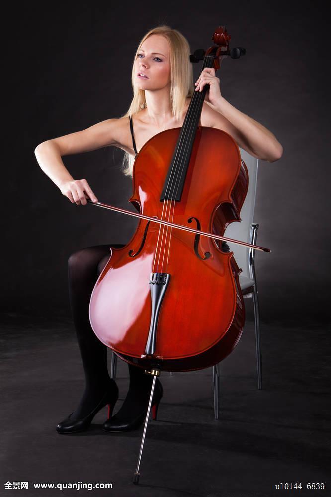 老式,艺术,背景,仰视,黑色,乐弓,躬曲,褐色,大提琴手,大提琴,古典图片