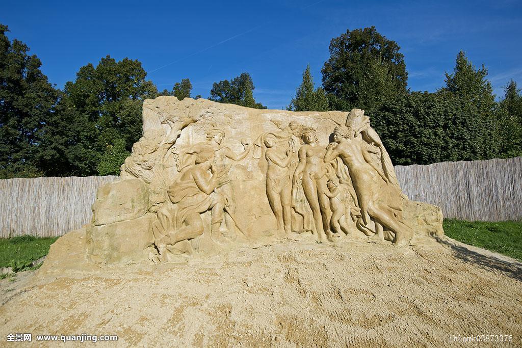沙雕,评判,巴黎,国际,展示,路德维希堡,巴登符腾堡,德国,欧洲图片