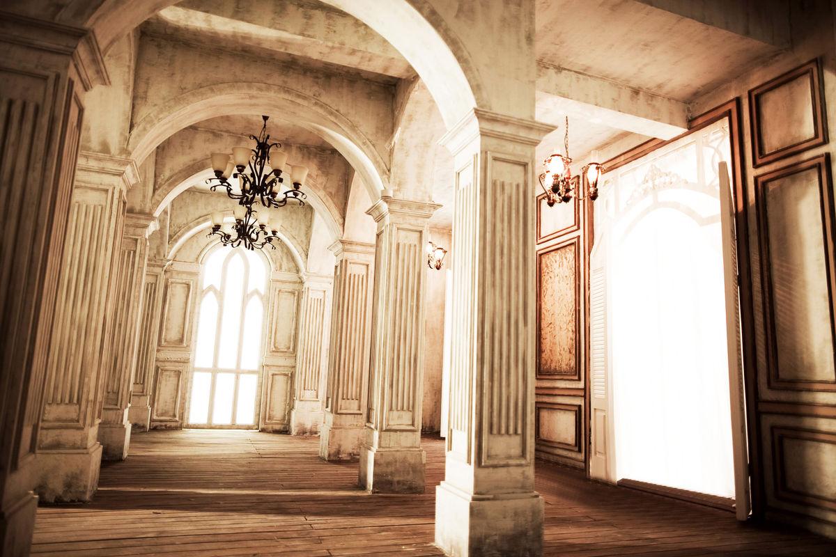 婚纱照,背景,欧式建筑,罗马柱,拱门,吊灯图片