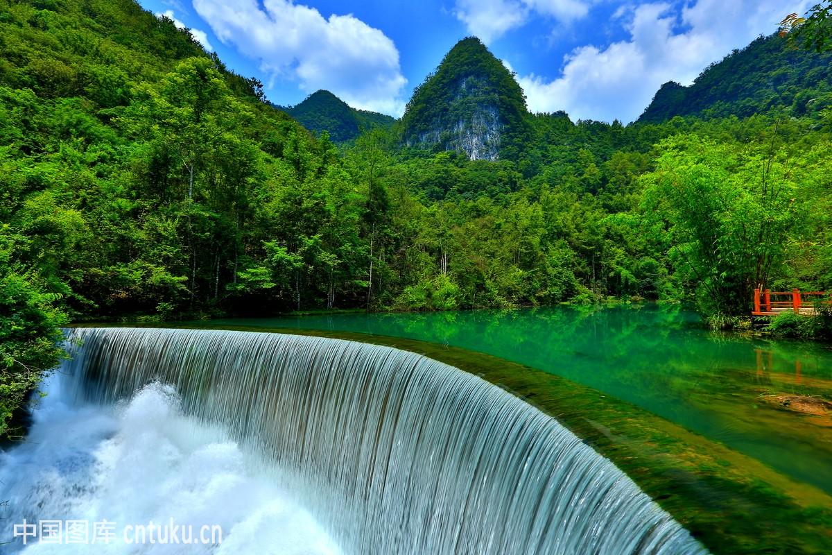风光类:贵州荔波小七孔自然风光图片