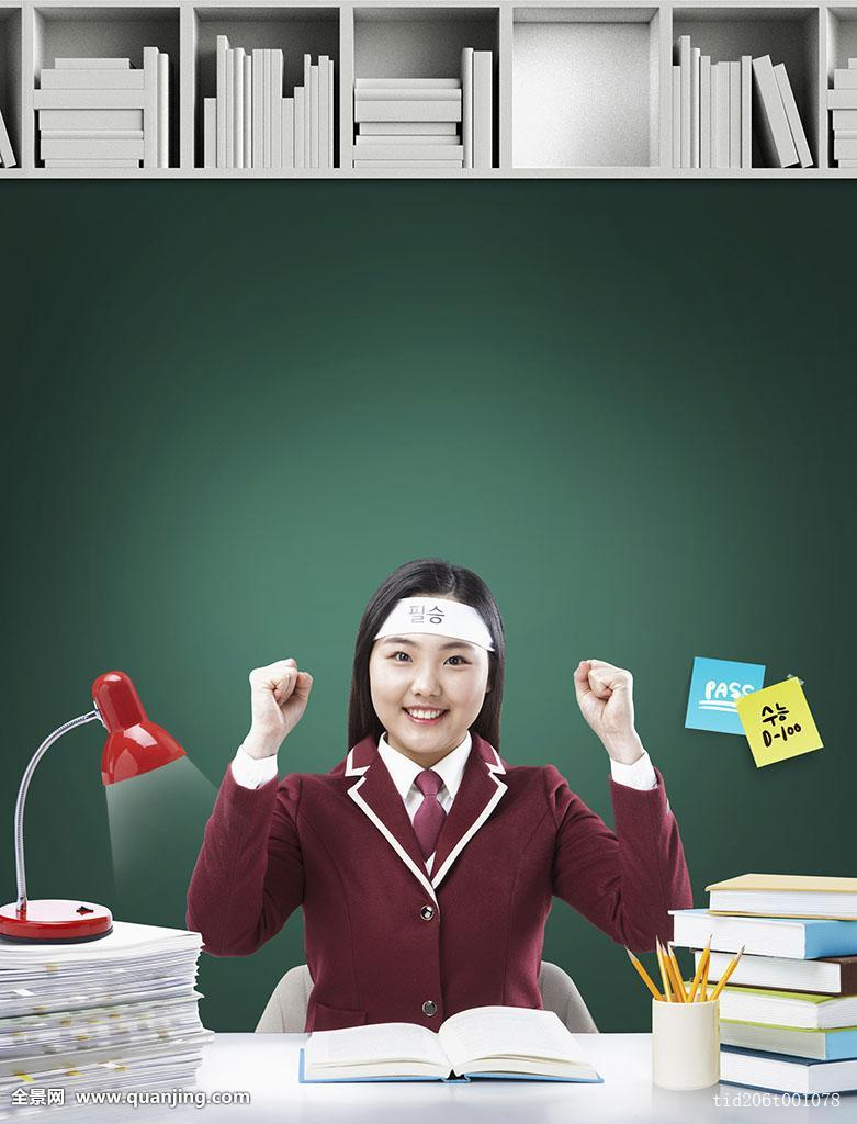 高三学生�y..�.��(N�_海报,韩国人,微笑,教育,大学,学习,技能,测验,考试,入口,学生,高中生