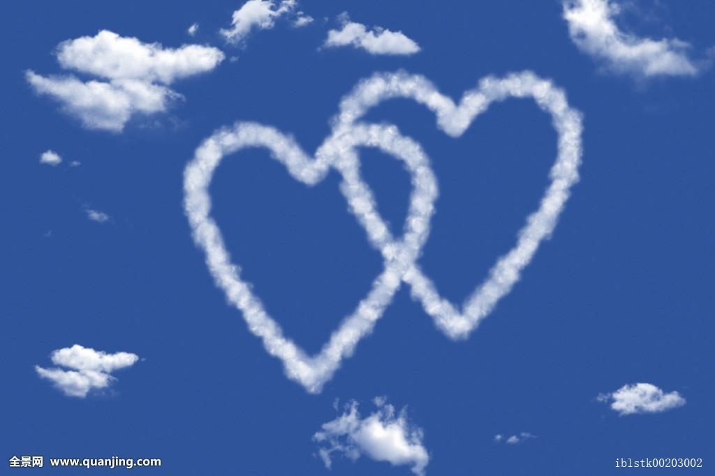 情感,深情,人造,云,多云,电脑,伴侣,排列,电脑制图,心形,喜爱,爱人图片