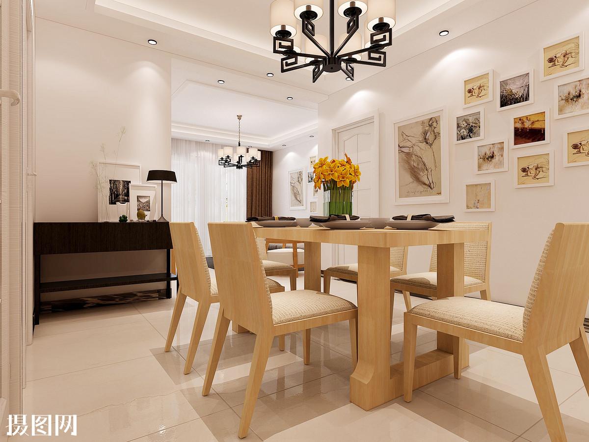 餐厅效果图,餐厅,室内效果图,效果图,家装,餐桌组合,桌椅,后现代图片