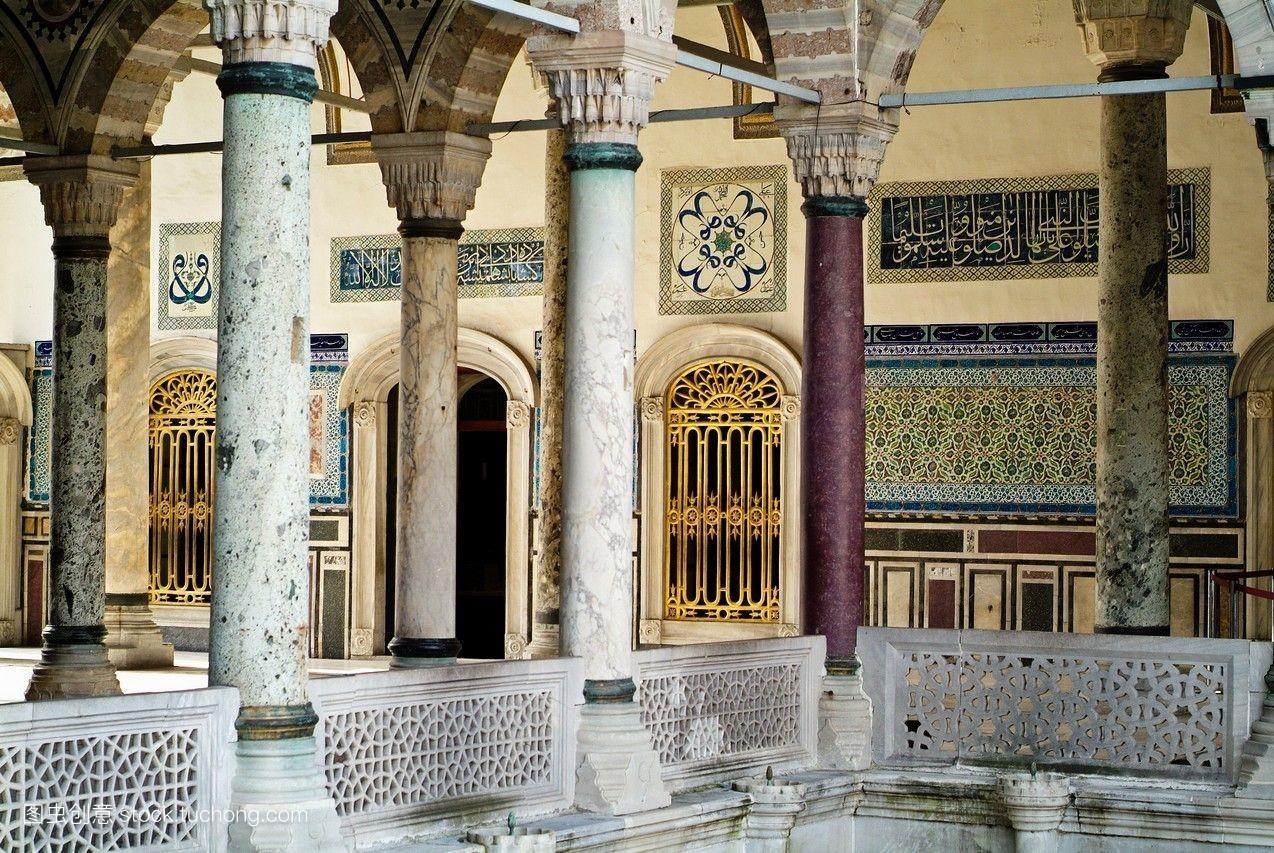 衰老,历史性,墙,宫殿,古老,镶嵌,建筑,样式,横图,历史上有名,老,柱子图片