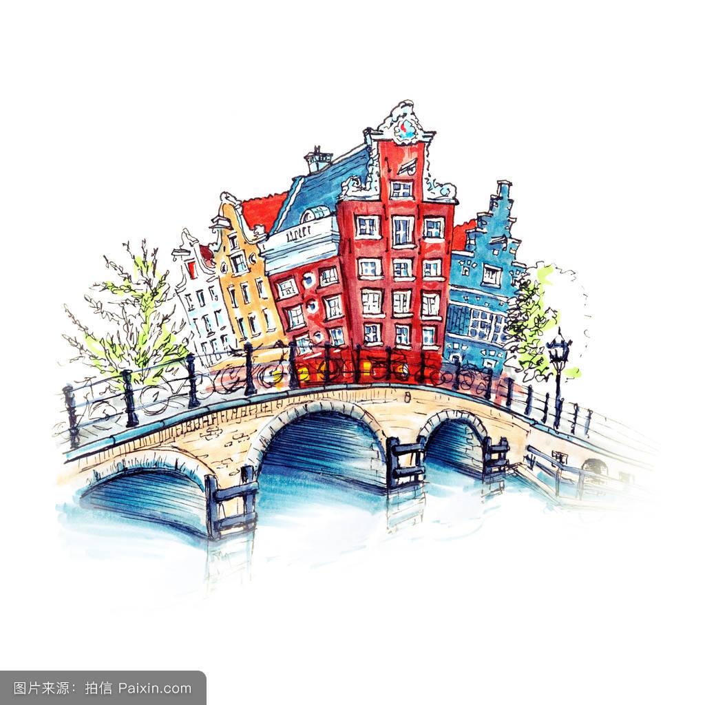 城市的,欧洲的,传统的,美丽的,典型的,浪漫的,街上的灯,建筑学,房子图片