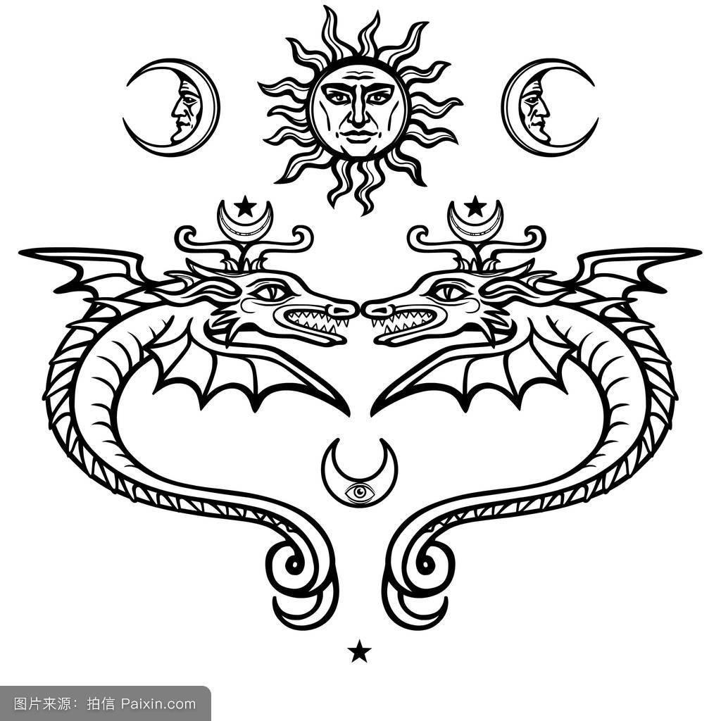 炼金术符号.宗教,神秘主义,神秘主义,巫术.白色背景下的矢量插图.图片图片