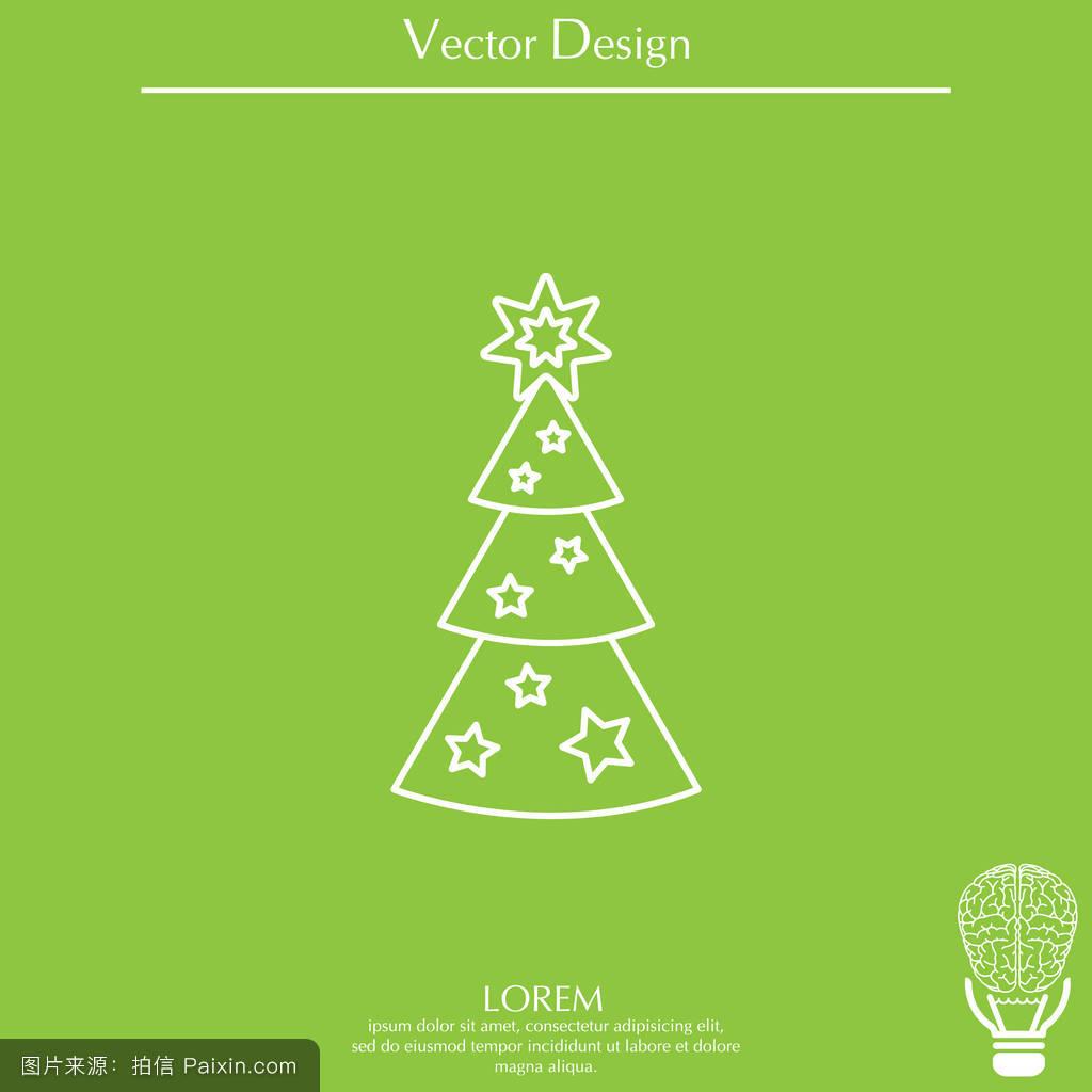 常绿,冷杉,假日,装饰性的,树,幸福的,分离,轮廓,年,愉快的,枞树,森林图片