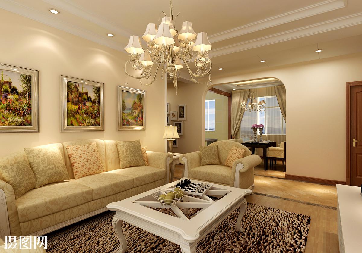 黄色客厅,客厅效果图,客厅,家装效果图,效果图,3d效果图,家装,地中海图片