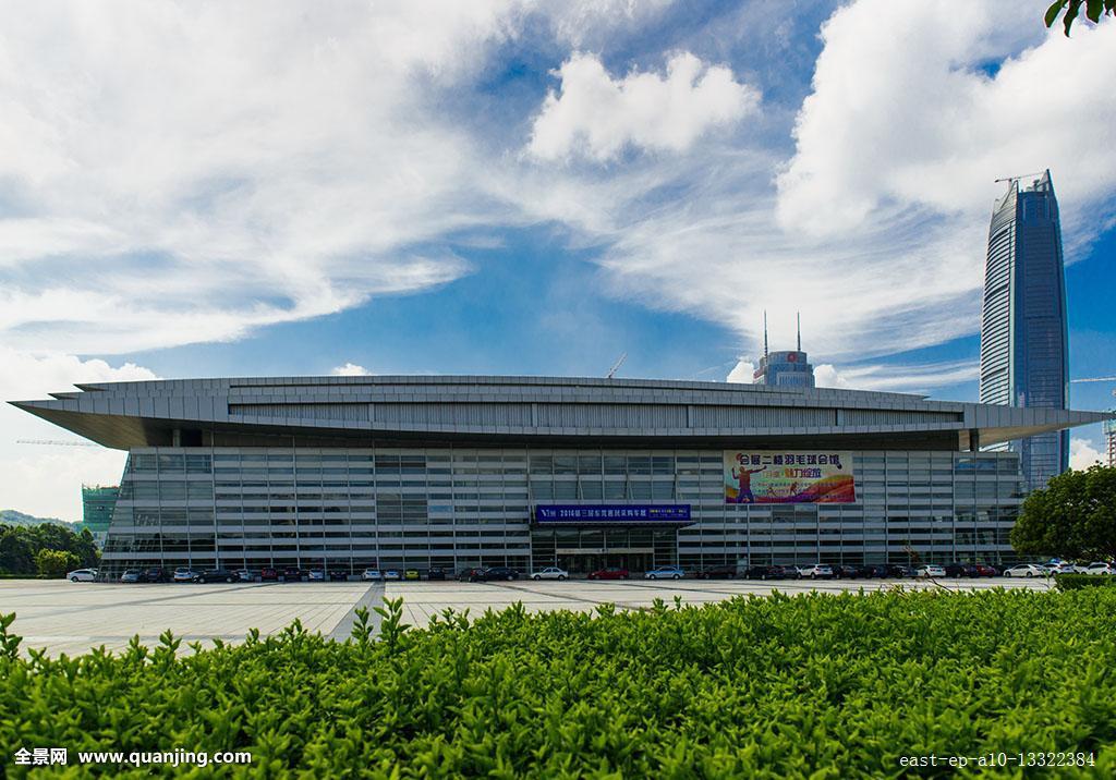 水平构图,东莞国际会展中心,东莞市,中国,商务,广东省,建筑摄影,彩色图片