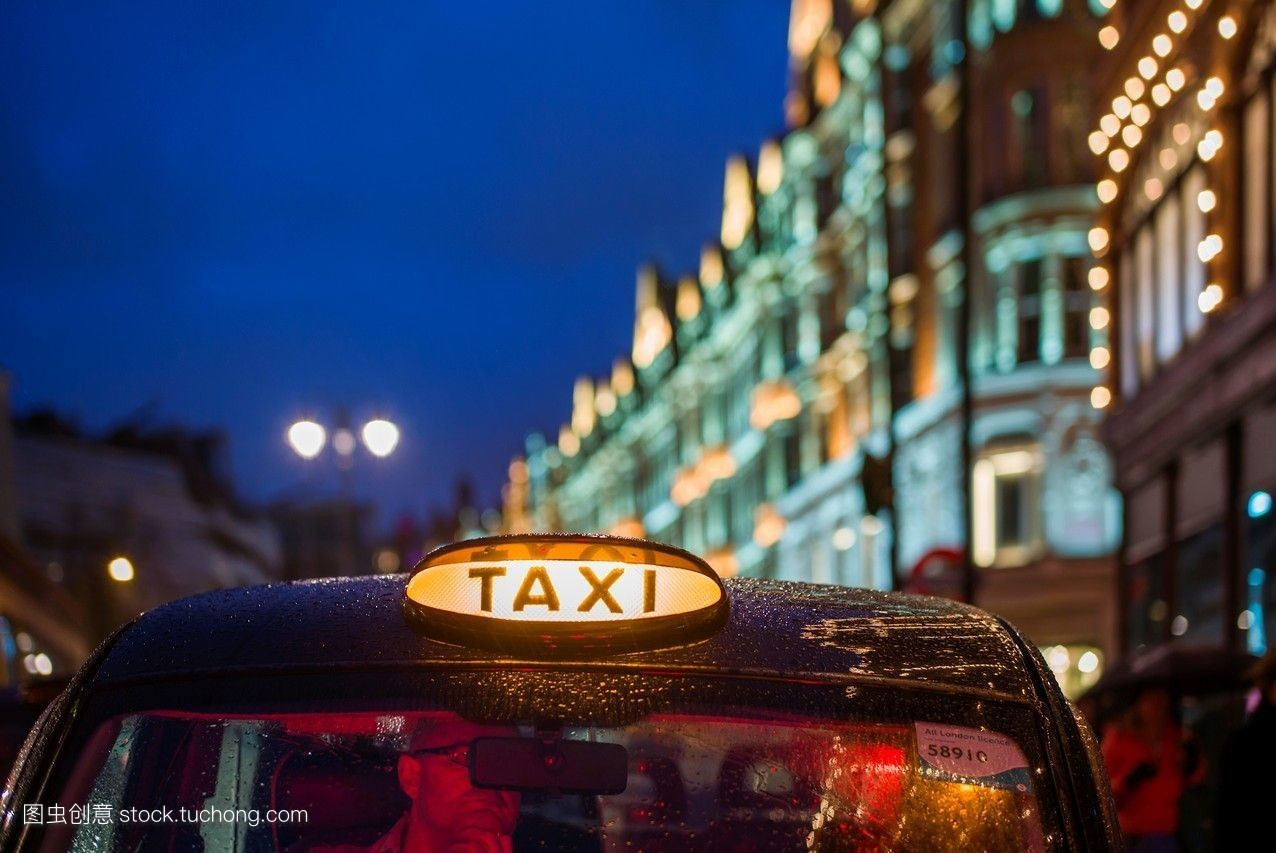 道路,城市,欧洲的,英格兰,英式,欧洲,伦敦,欧洲人,黃昏,英国人,出租车图片