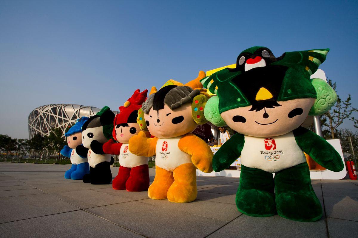 著名景点,彩色,摄影,象征,体育,运动会,奥林匹克,福娃,奥运吉祥物图片