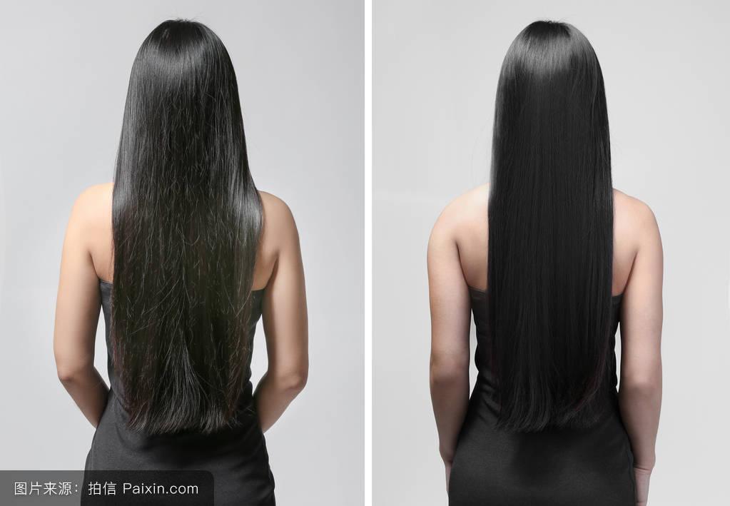 损坏,美容美发,美丽的,专业的,比较,头发,染料,发型,健康的,设计师,转图片