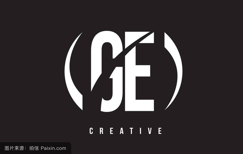 ge_ge g e的白色字母标�