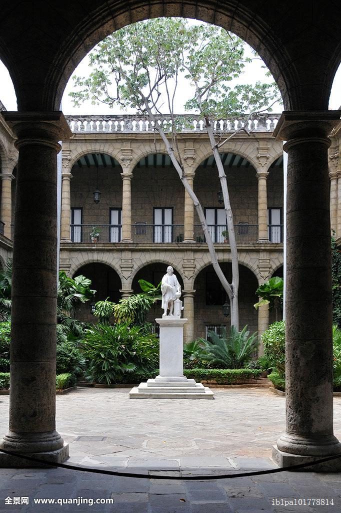 北美,拱廊,建筑,阿玛斯,艺术,魅力,加勒比,中心,柱廊,柱子,纪念,宫殿图片