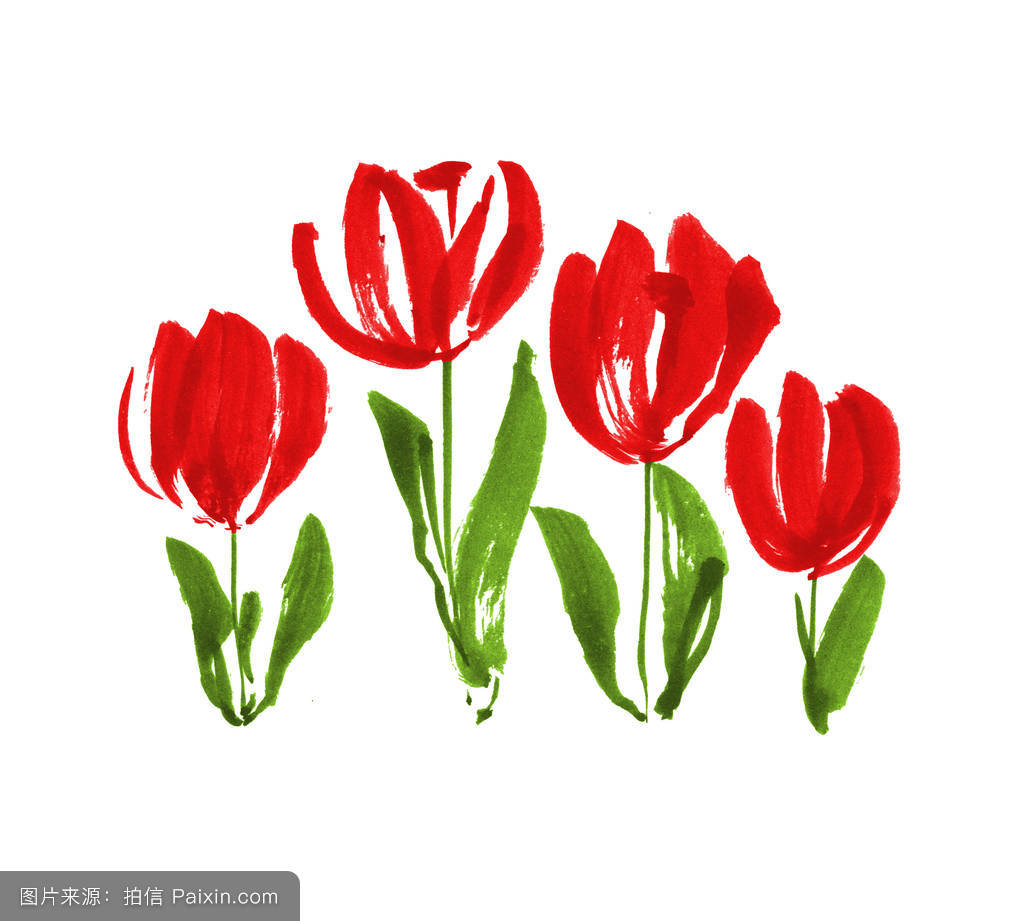 http://file.yleyuan.com/2017/04/15/62ab6d1e-5235-4154-abae-193202771db8.JPEG_watercolor naive atyle tulip flower painting.